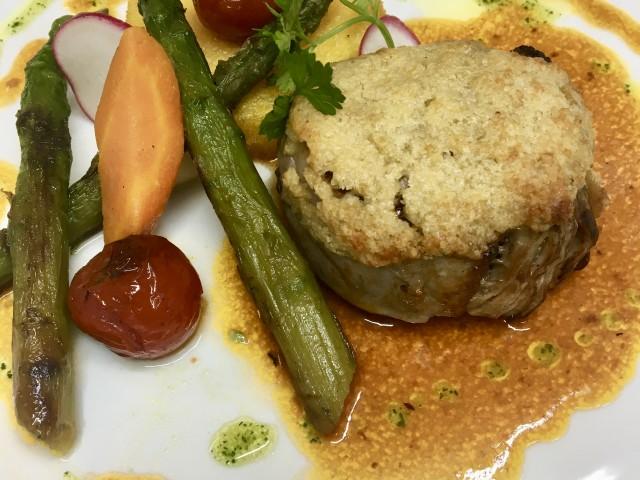 Café de la Paix filet de veau en croûte de parmesan